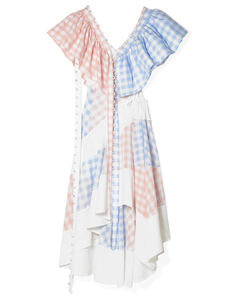 loewe gingham sun dress