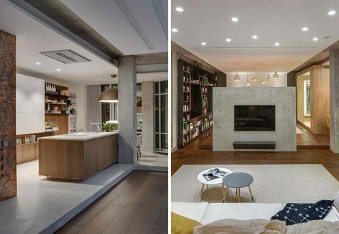 Floor, Interior design, Flooring, Room, Property, Ceiling, Wall, Interior design, Living room, Home,