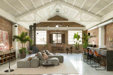 loft de estilo industrial en poblenou