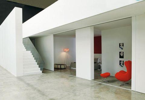 Floor, Architecture, Property, Interior design, Flooring, Wall, Room, Ceiling, Tile, Interior design,