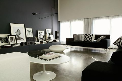 Interior design, Floor, Room, Living room, Table, Couch, Wall, Furniture, Style, Coffee table,