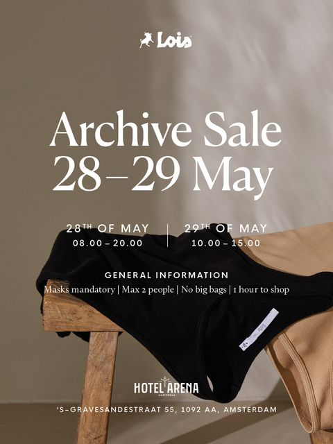 lois jeans archive sale in amsterdam