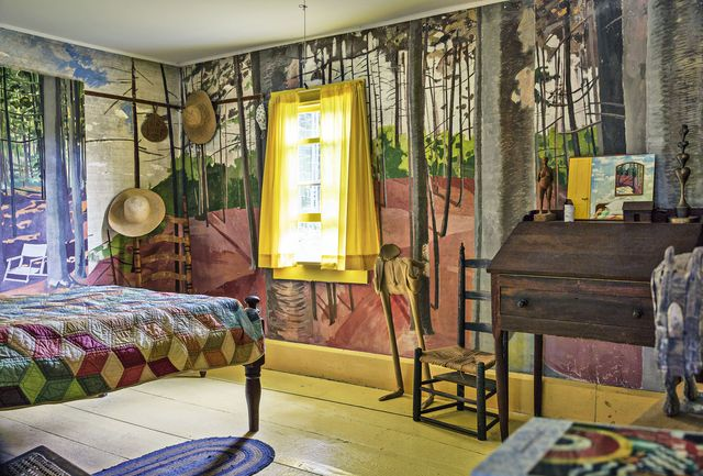 a bedroom in lois dodd's maine home
