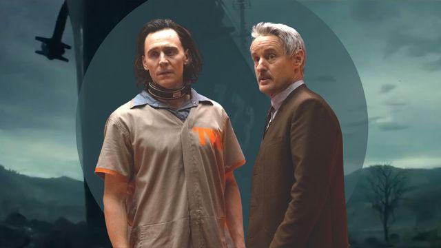tom hiddleston y owen wilson, protagonistas de la serie loki sobre una imagen del destructor uss eldridge, el barco del experimento filadelfia