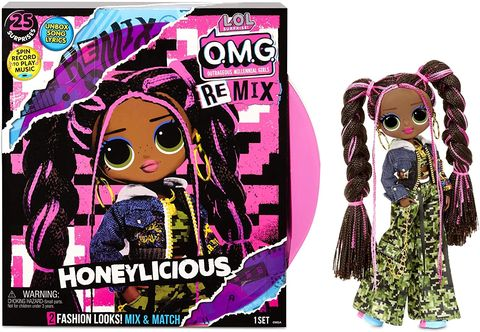 lol surprise omg remix honeylicious fashion doll