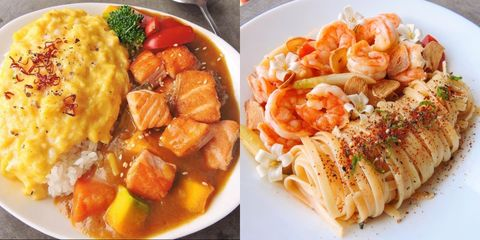 宥宥廚房小料理 蒜片蘆筍鮮蝦義大利麵