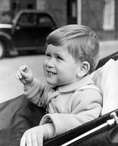prince charles at age two in carriage