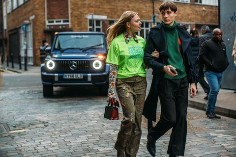 Vehicle, Car, Mercedes-benz g-class, Street fashion, Snapshot, Fashion, City car, Street, Pedestrian, Plant,