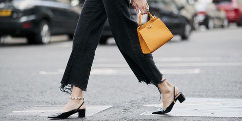 Street fashion, Clothing, Black, Yellow, Waist, Fashion, Leg, Snapshot, Human leg, Jeans,