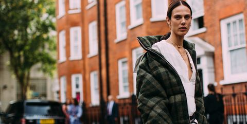 Plaid, Street fashion, Fashion, Pattern, Tartan, Urban area, Snapshot, Street, Yellow, Design,