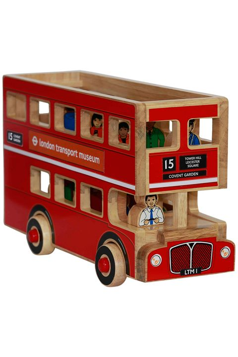 London Transport Museum toy wooden London bus