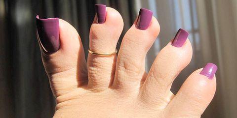 Nail, Finger, Nail polish, Pink, Nail care, Violet, Skin, Manicure, Purple, Hand,