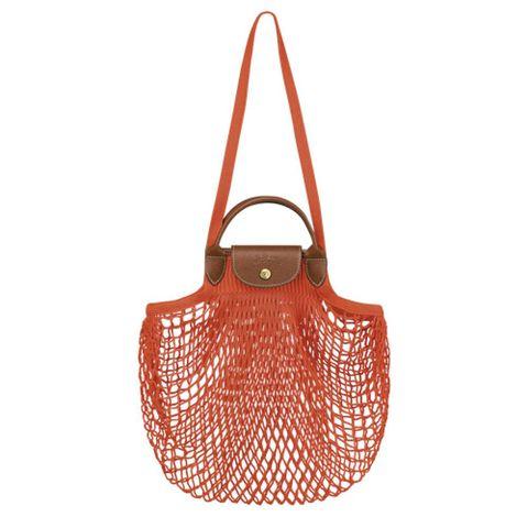 longchamp tas met handgreep aan de bovenkant