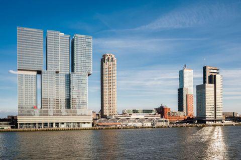 de rotterdam vertical city, rotterdam, netherlands architect oma rem koolhaas, 2013