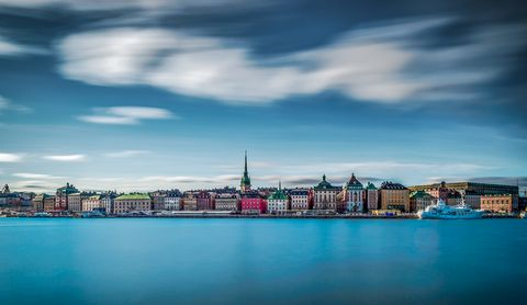 Long exposure over old town in Stockholm