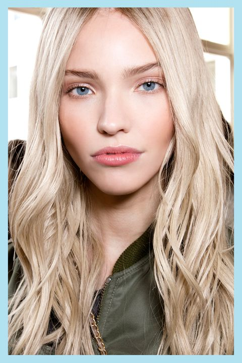 Hair, Face, Blond, Eyebrow, Lip, Hairstyle, Hair coloring, Beauty, Skin, Long hair, Grow Your Hair