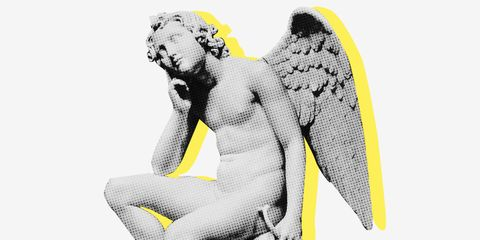 Yellow, Black-and-white, Photography, Illustration, Fictional character, Wing,