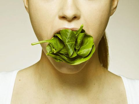 Lip, Skin, Green, Leaf, Jaw, Neck, Muscle, Photography, Leaf vegetable, Produce,