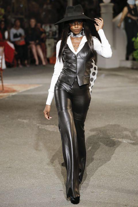 Fashion, Clothing, Fashion show, Suit, Hat, Runway, Footwear, Fashion model, Outerwear, Street fashion,