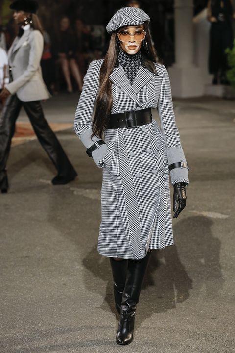 Clothing, Street fashion, Fashion model, White, Fashion, Outerwear, Coat, Footwear, Black-and-white, Fashion show,
