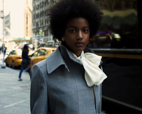 Street, Street fashion, Jacket, Afro, Fashion, Black hair, Fur, Natural material, Jheri curl, Animal product,