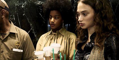 Cap, Jheri curl, Hat, Drink, Chocolate milk, Baseball cap, Afro, Coffee, Coffee milk, Necklace,