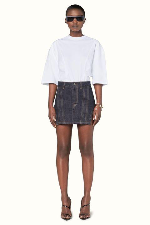 Clothing, White, Blue, Fashion, Shorts, Denim, Footwear, Sleeve, Pocket, Shoulder,