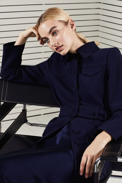 Clothing, Beauty, Sitting, Shoulder, Model, Fashion, Photo shoot, Blond, Neck, White-collar worker,