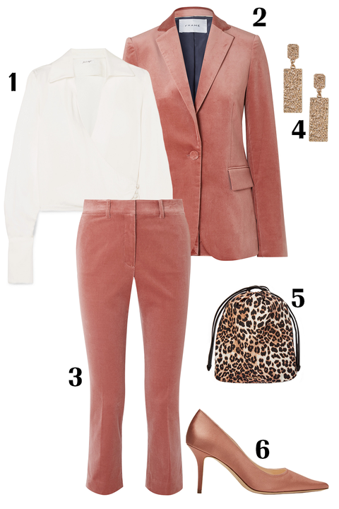 Clothing, White, Pink, Suit, Outerwear, Footwear, Fashion, Brown, Formal wear, Blazer,