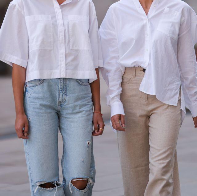 look basico con camisa blanca