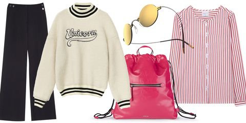 Clothing, White, Pink, Product, Sleeve, Outerwear, Footwear, T-shirt, Font, Neck,