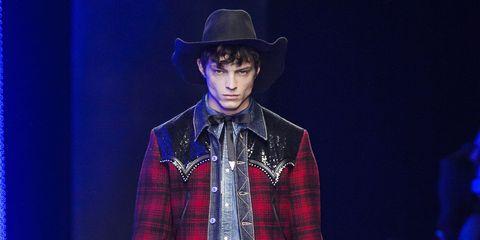 Plaid, Fashion, Design, Performance, Pattern, Tartan, Hat, Headgear, Cowboy hat, Textile,