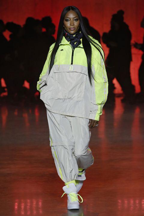 Runway, Fashion, Fashion show, Human, Fashion design, Outerwear, Fashion model, Fun, Event, Trousers,