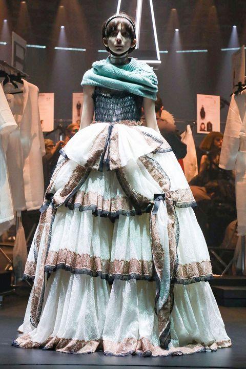 Fashion, hoopskirt, Dress, Clothing, Costume design, Gown, Victorian fashion, Haute couture, Fashion design, Fashion model,