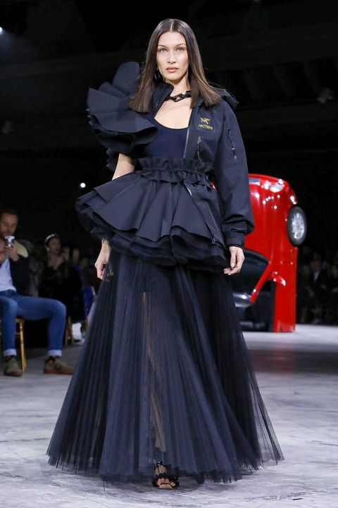 Fashion model, Fashion, Clothing, Runway, Fashion show, Dress, Haute couture, Gown, Event, Public event,