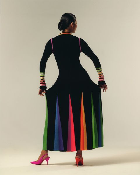 christopher john rogers collection 008 pre order knit dress rainbow colors cfda vogue fashion fund winner new york designer black owned