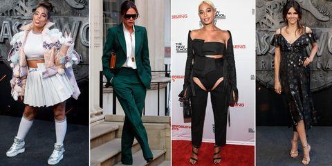 Clothing, Fashion model, Fashion, Shoulder, Footwear, Dress, Joint, Shoe, Outerwear, Formal wear,