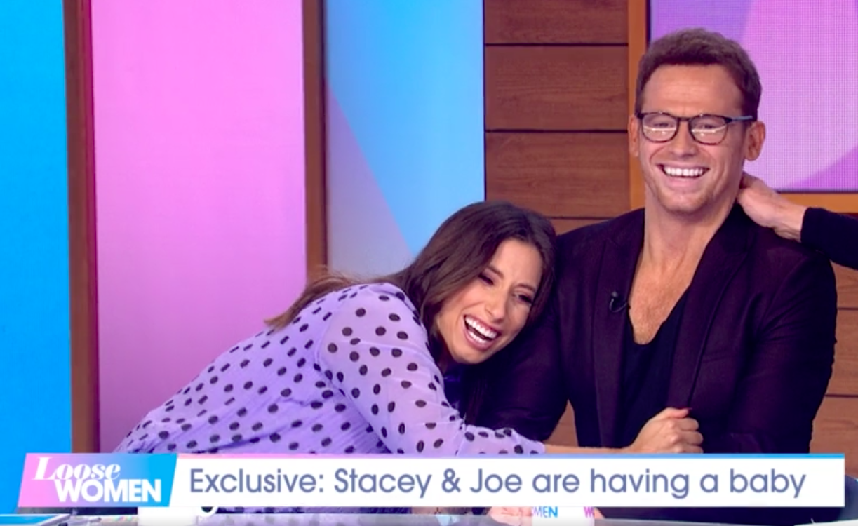 Stacey Solomon photoshops boyfriend Joe Swash into Christmas card with awkward results