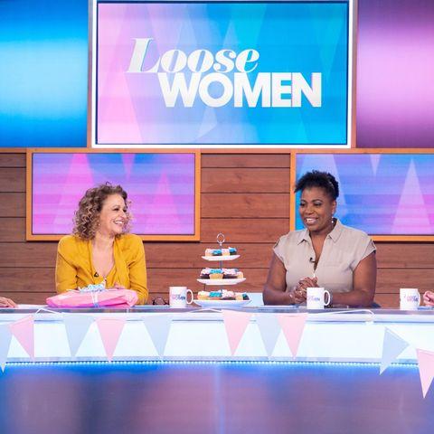 'loose women' tv show, london, uk   24 may 2019