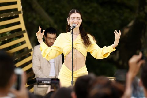lorde performs at good morning america summer concert series