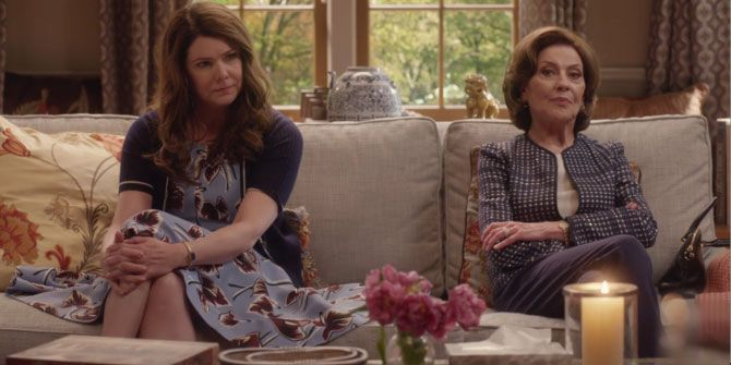mother, daughter, argument, therapy, gilmore girls, lorelai, emily,