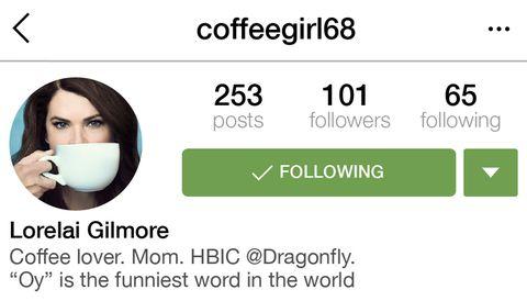 If Lorelai Gilmore Had Instagram
