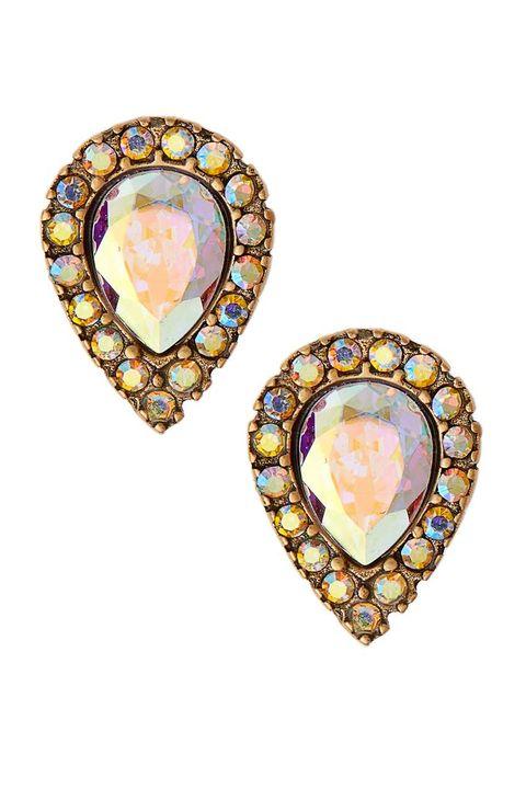 Earrings, Jewellery, Fashion accessory, Body jewelry, Yellow, Gemstone, Diamond, Opal,