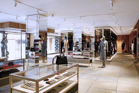 Boutique, Interior design, Building, Lighting, Fashion, Room, Architecture, Design, Furniture, Ceiling,