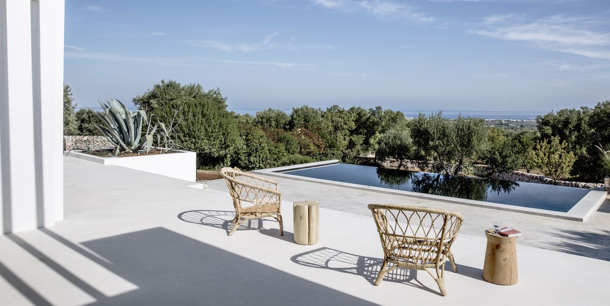 Imagine yourself in this sunny Puglian home designed for poolside lounging