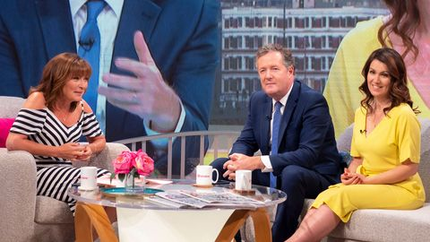 Lorraine Kelly with Piers and Susanna