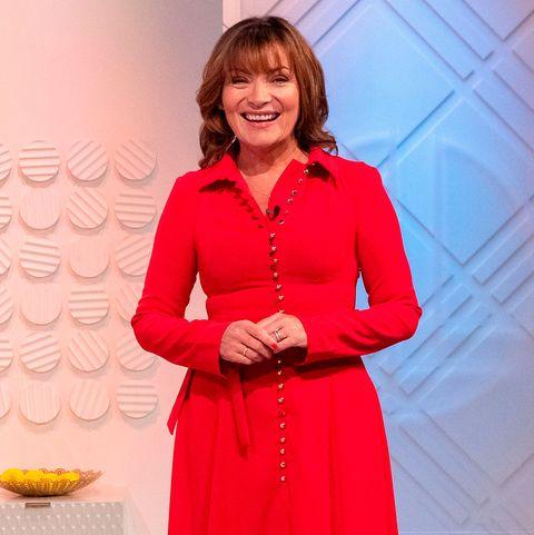 Lorraine Kelly red dress
