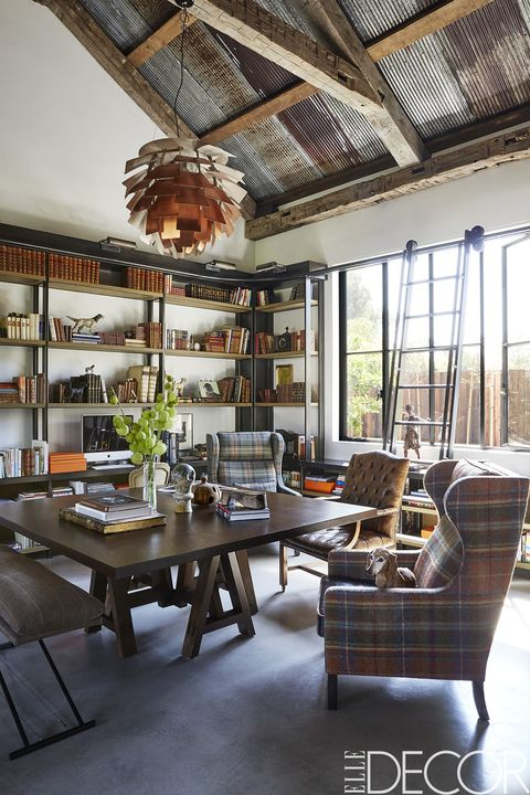 Home Library Bookshelves: A Contemporary Country Home In Los Angeles