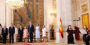 Leonor y Sofía en el Palacio Real