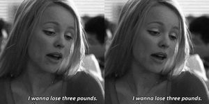 lose weight, pounds, mean girls